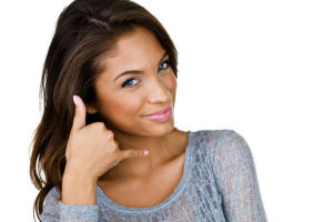 woman gesturing phone call picture id174818240